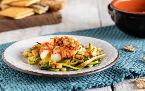 Preparazione Uova in camicia gratinate con zucchine - Fase 3