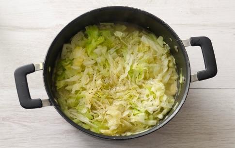 Preparazione Verza e salsiccia - Fase 3