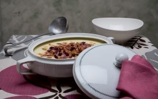 Zuppa di radicchio e polenta