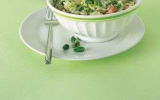 Risotto al pistacchio e pancetta