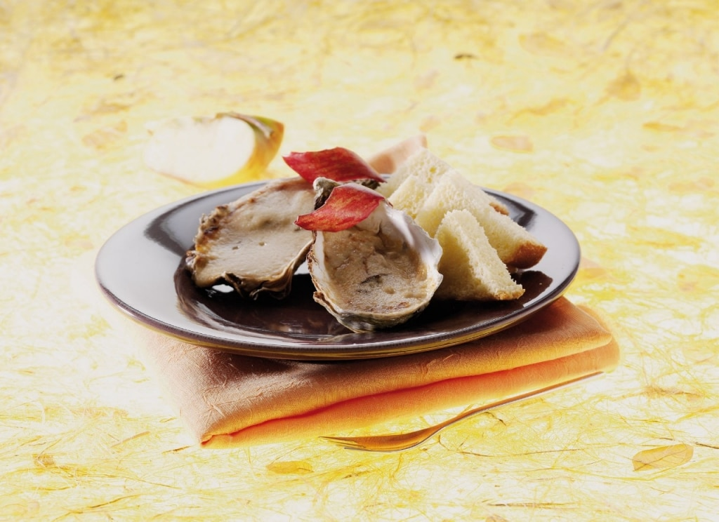 Conchiglie di ostriche al Calvados