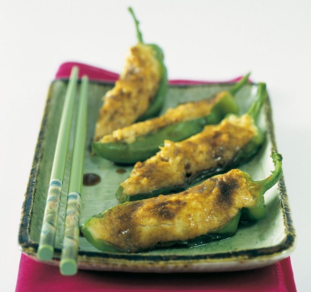 Peperoni ripieni di trota e gamberetti - Cina