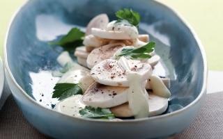 Funghi allo yogurt