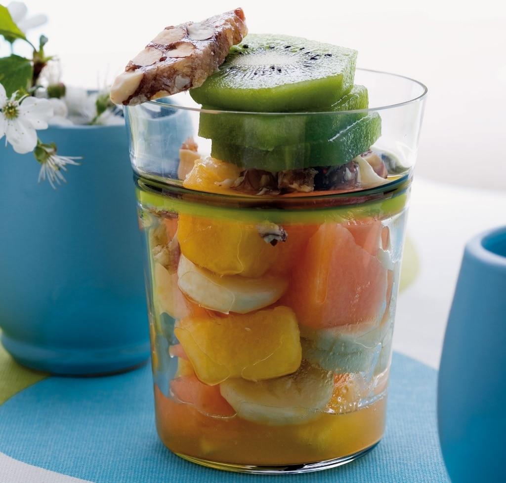 Misto di frutta al croccante di mandorle