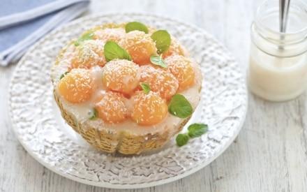 Melone con crema fredda al cocco