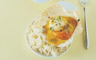 Cappesante al timo gratinate con salsa d'uova