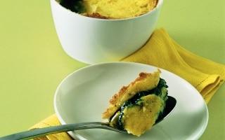 Soufflé di spinaci e fontina