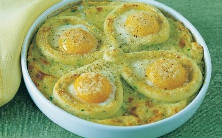 Torta salata di uova e patate