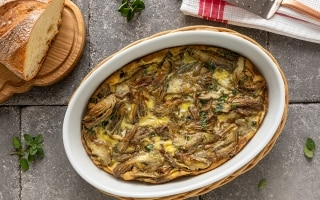 Torta di uova e carciofi alla toscana