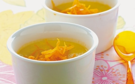 Crema tiepida all'arancia e limone