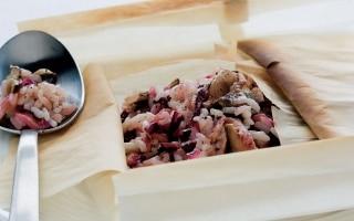 Piccoli cartocci di riso saporito