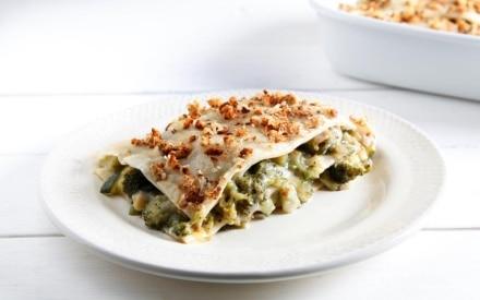 Lasagne con broccoli e zucchine