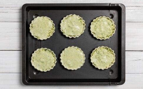 Preparazione Tartellette gratinate alle zucchine - Fase 3