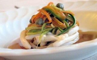 Calamari e verdure marinate alla soia