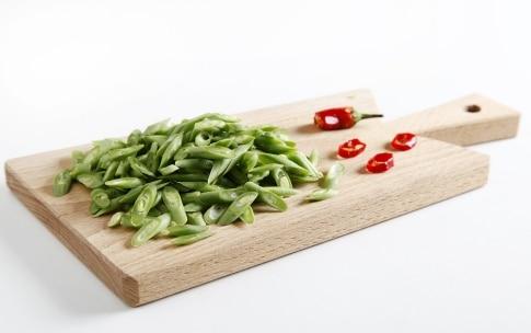 Preparazione Linguine di farro alle capesante, fagiolini e rapa rossa - Fase 1