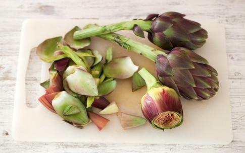 Preparazione Sformato di carciofi al parmigiano - Fase 1