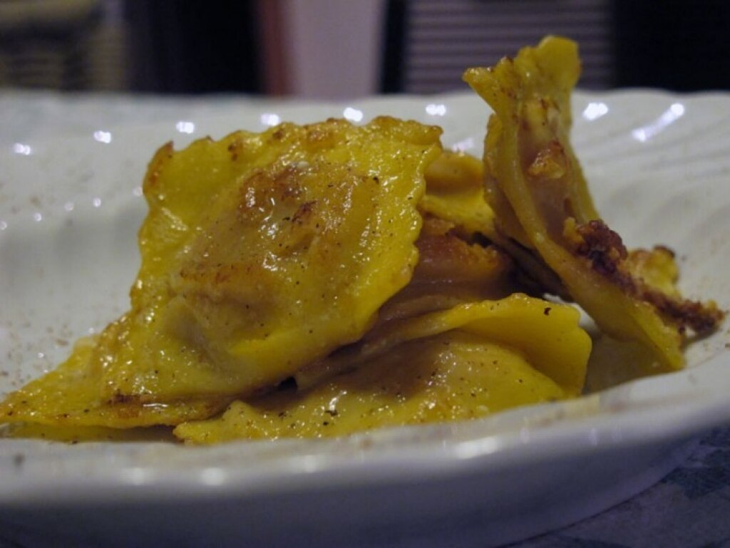 Tortelli di zucca fritti
