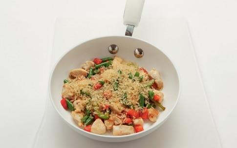 Preparazione Paella con verdure, pollo e coniglio - Fase 3