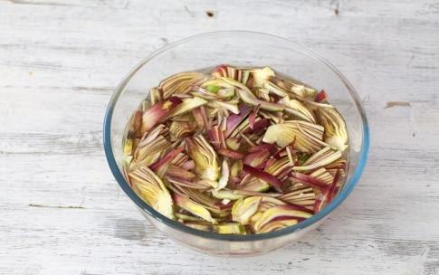 Preparazione Pescatrice al limone con carciofi - Fase 1