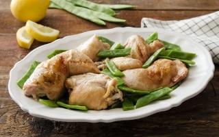 Pollo al limone e taccole