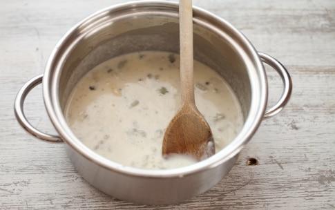 Preparazione Maccheroncini al gorgonzola - Fase 2