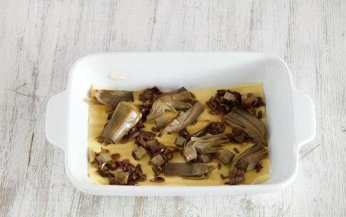 Preparazione Lasagne ai carciofi e funghi - Fase 4