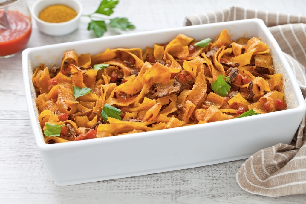 Pappardelle al curry