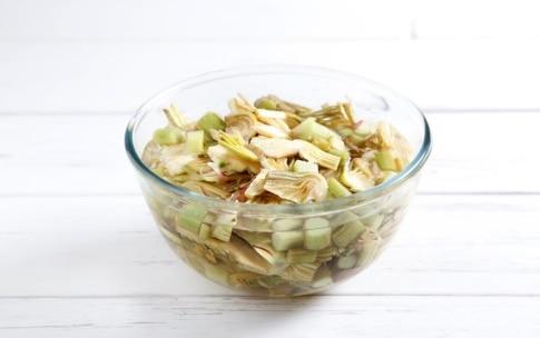 Preparazione Pasta con i carciofi - Fase 1