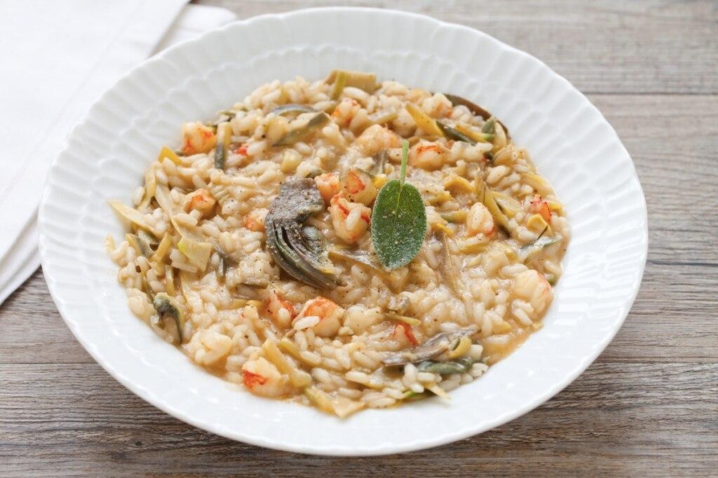 Ricetta risotto ai carciofi e salsa di gamberi cucchiaio for Ricette risotti veloci