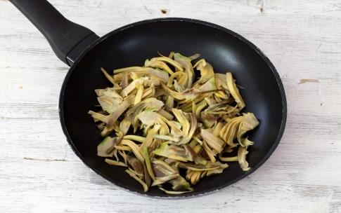 Preparazione Risotto ai carciofi e salsa di gamberi - Fase 3