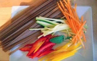 Tagliolini di orzo e farro con verdure