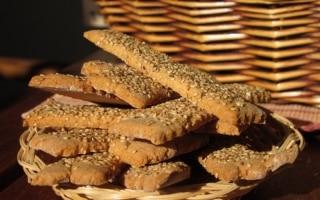 Biscotti rustici al sesamo