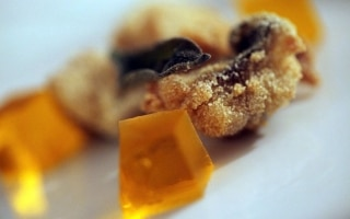 Gallinella fritta con gelatina al crodino