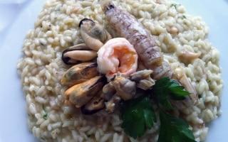 Risotto ai frutti di mare e crostacei
