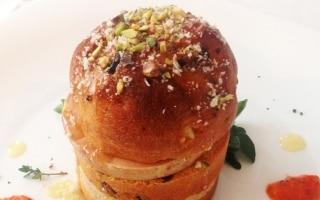 Panettone gastronomico con foie gras