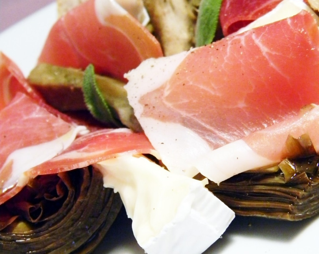 Carciofi, brie e culatello