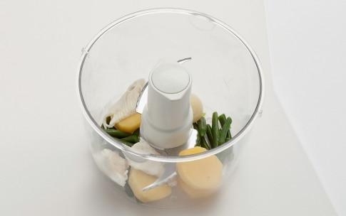 Preparazione Crema di patate, fagiolini e platessa - Fase 2
