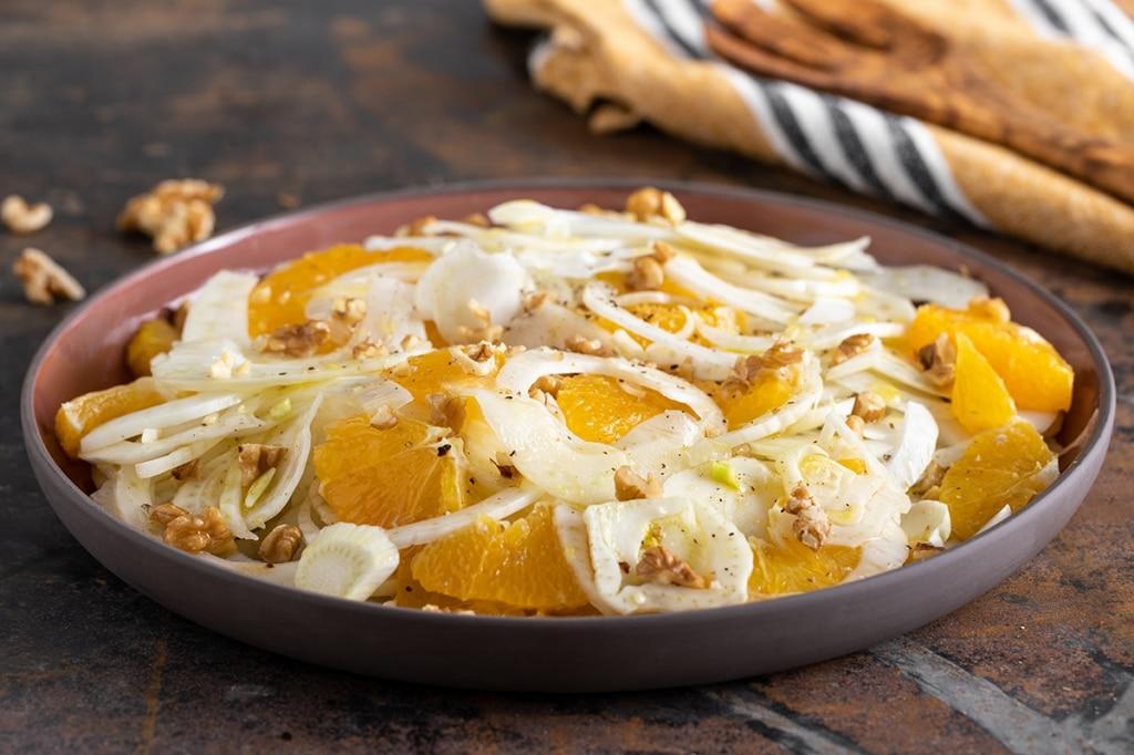 Insalata di arance, noci e finocchi