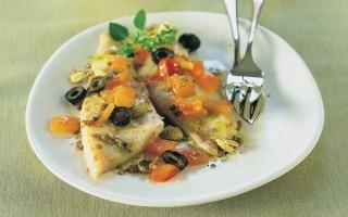 Sarago alle olive e spezie