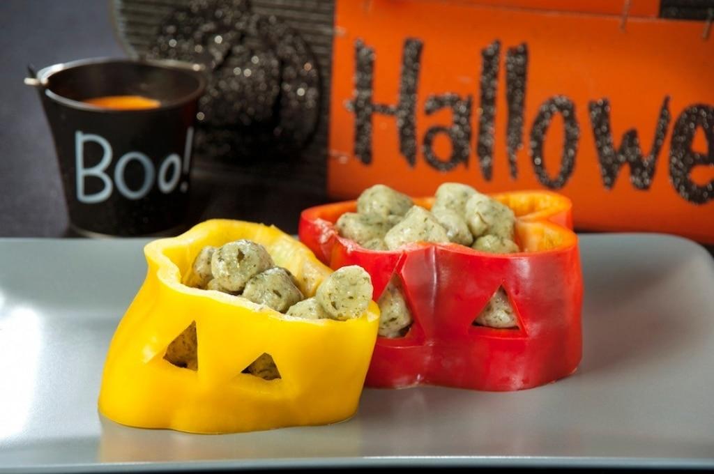 Gnocchetti di spinaci di Halloween