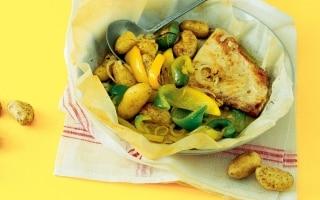 Pesce spada al forno con verdure
