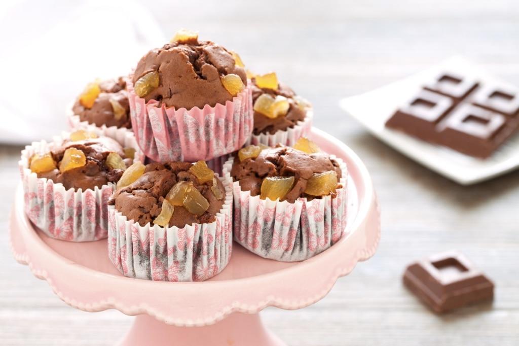muffin al cioccolato e zenzero