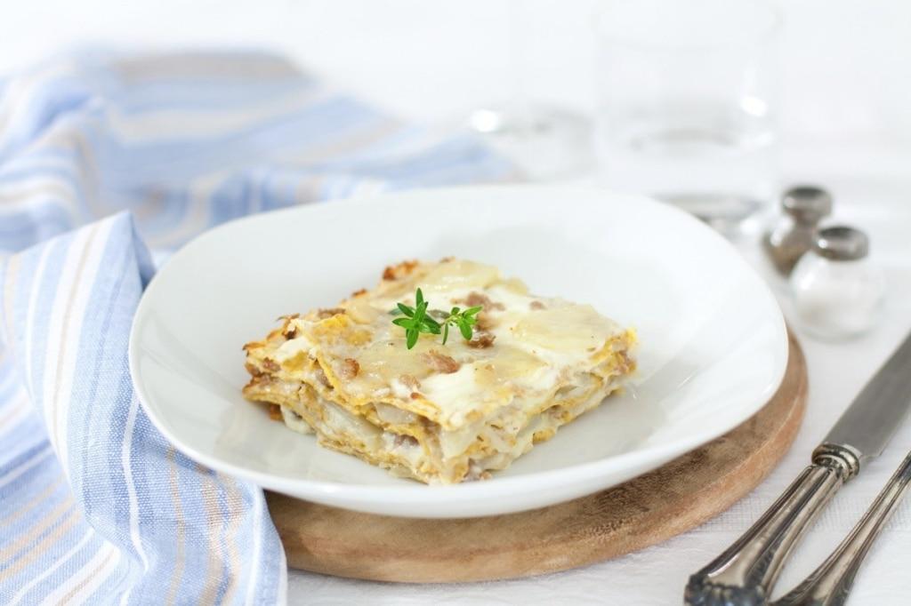 Lasagne di Petra 9 con topinambur e salsiccia