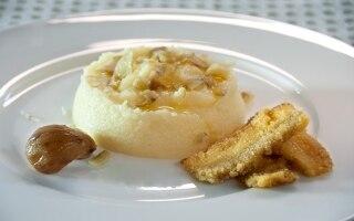 Polentina bianca con scaglie di castagne...