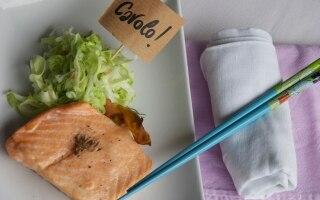 Salmone e cavolo cappuccio al finocchietto