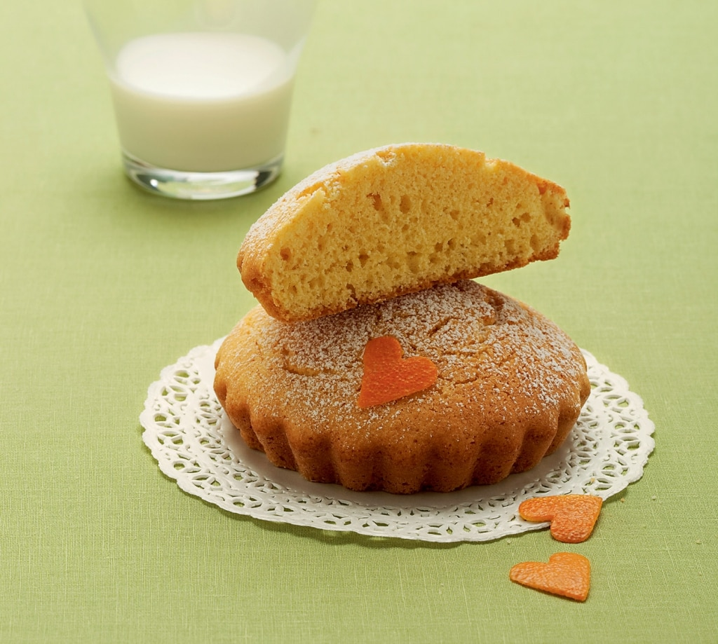 Tortini di farina gialla all'arancia