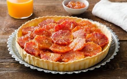 Crostata caramellata di mele e arance