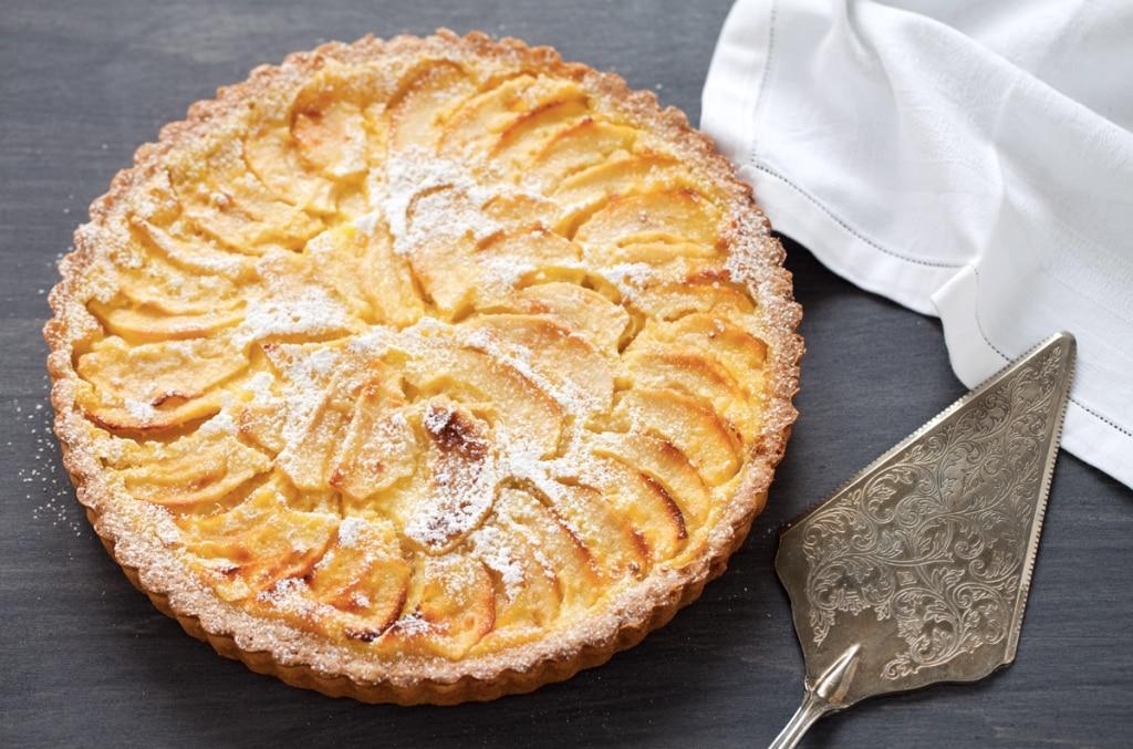 Crostata di mele con la crema