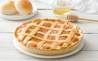 Crostata al miele e pane