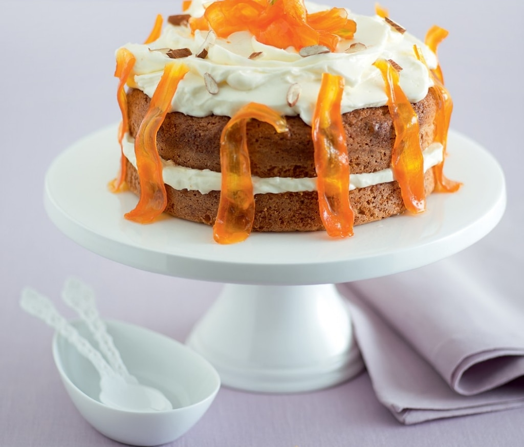 Torta di carote al profumo di agrumi